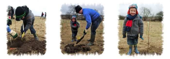 Sharpe Maintenance Family planting trees