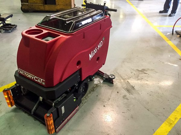 Factory Cat Mini HD Pedestrian Scrubber Dryer Cleaning performance