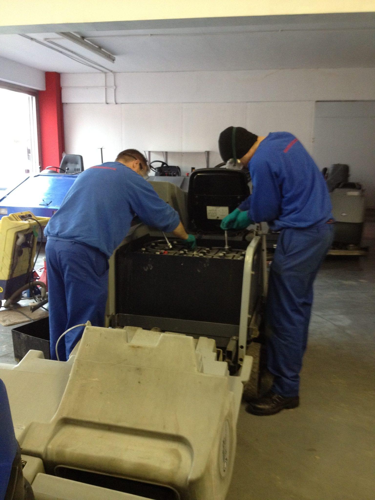 Nilfisk sweeper repairs