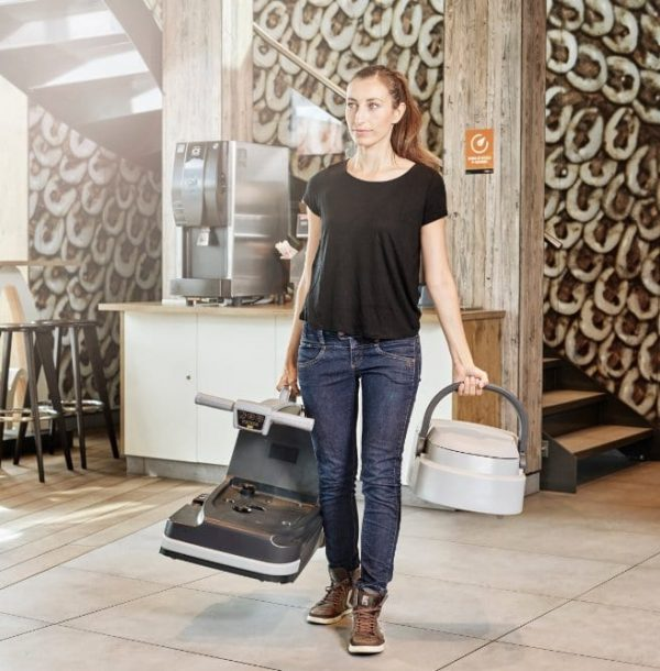 The Nilfisk SC250 scrubber dryer is easy to carry