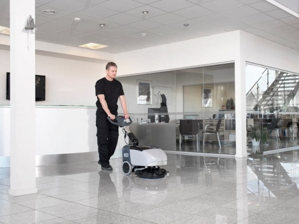 Nilfisk SC351 Scrubber Drier reception cleaning