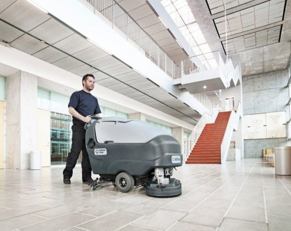 Nilfisk SC800 scrubber drier for large commercial floor cleaning