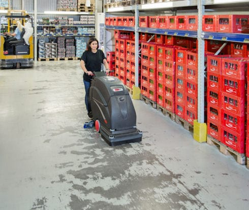 Viper Fang 20 HD scrubber drier for tough warehouse cleaning