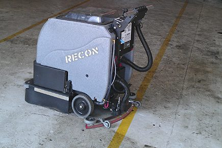Factory Cat MicroMag concrete floor cleaning