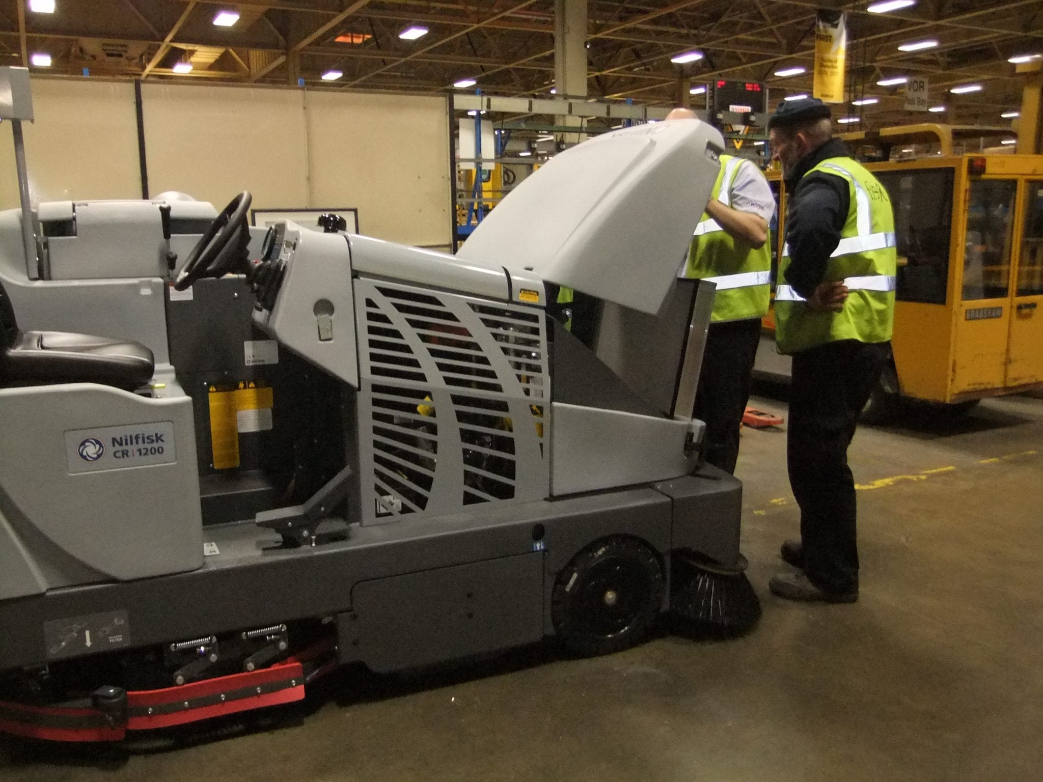 Combination sweeper scrubber service