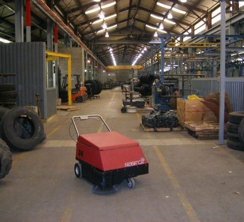 Factory Cat Model 34 walk behind factory sweeper