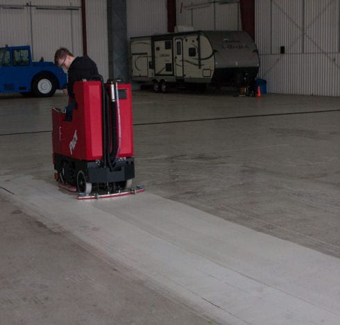 Factory Cat Pilot Heavy Duty Ride on Floor cleaner