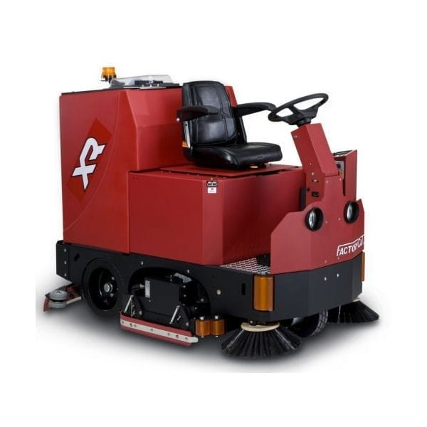The Factory Cat XR range of ride on floor scrubbers