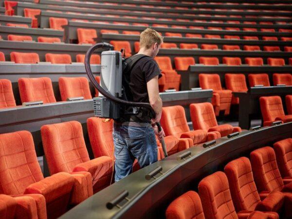 Nilfisk GD5 mains powered backpack vacuum