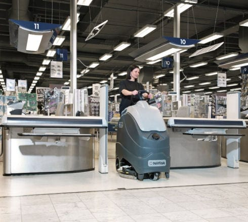 Nilfisk SC1500 scrubber drier for stand on floor cleaning