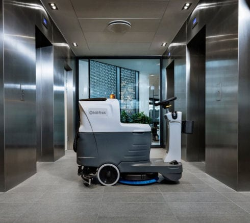 Nilfisk SC2000 micro scrubber drier for cleaning narrow isle spaces