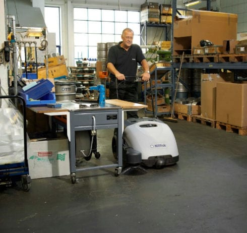 Nilfisk SW750 factory floor sweeper