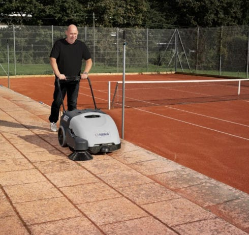 Nilfisk SW750 walk behind battery sweeper