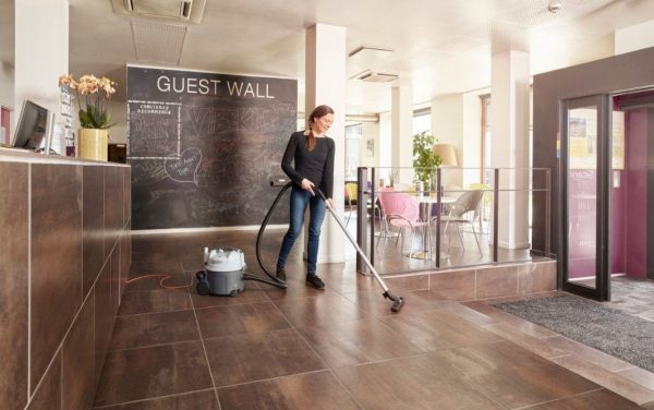 The Nilfisk VP300 tub vacuums with hepa filters