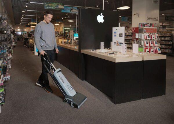 Nilfisk VU500 upright commercial vacuum for multiple floor surfaces