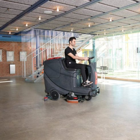 Viper AS850 R ride on floor scrubber drier cleaning exhibition halls