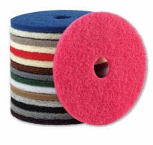 Floor cleaning pads for buffers, polishers and scrubber dryers
