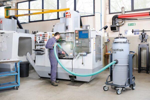 Nilfisk Industrial vacuum for meta recovery.