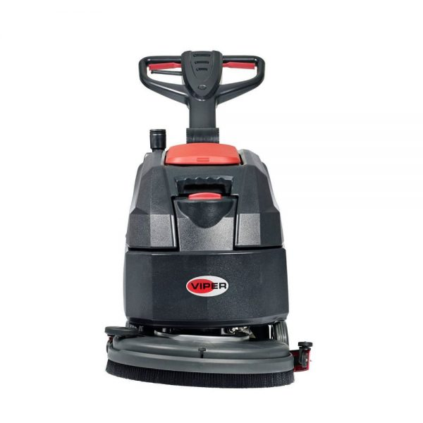 Front view of Viper AS4335C & AS4325B floor scrubber
