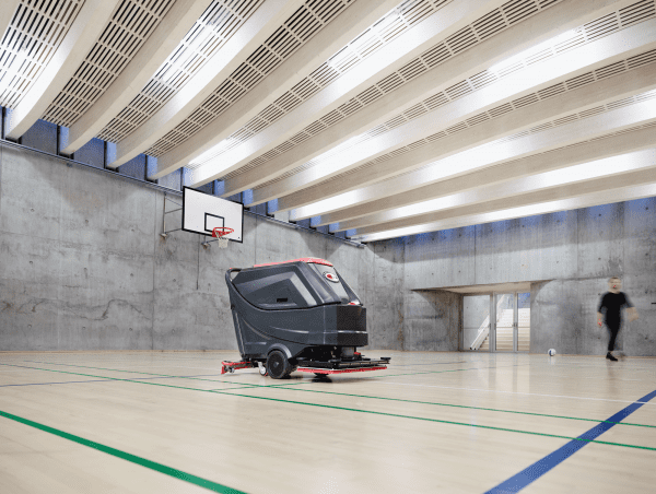 Viper Orbital floor scrubber for sports hall cleaning