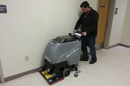 Factory Cat Micro-Mini edge floor scrubber
